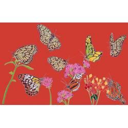 papillon rouge