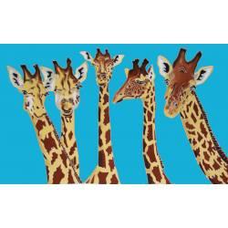 Girafe bleu